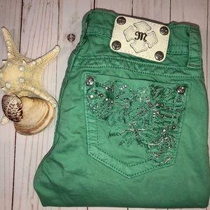 Miss Me Mint Green Skinny Jeans